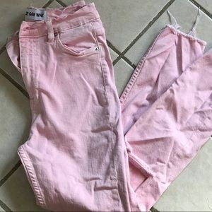 Zee Gee Why pink high rise jeans